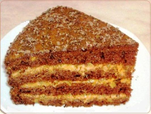 Торт шоколадный на кефире