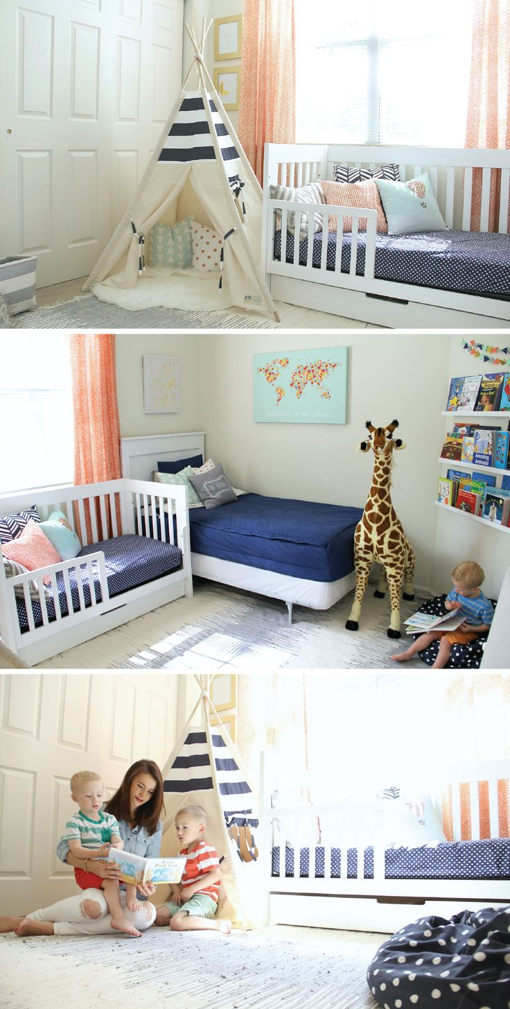 1000 Ideas About Sibling Room On Pinterest Diy Toddler Bed