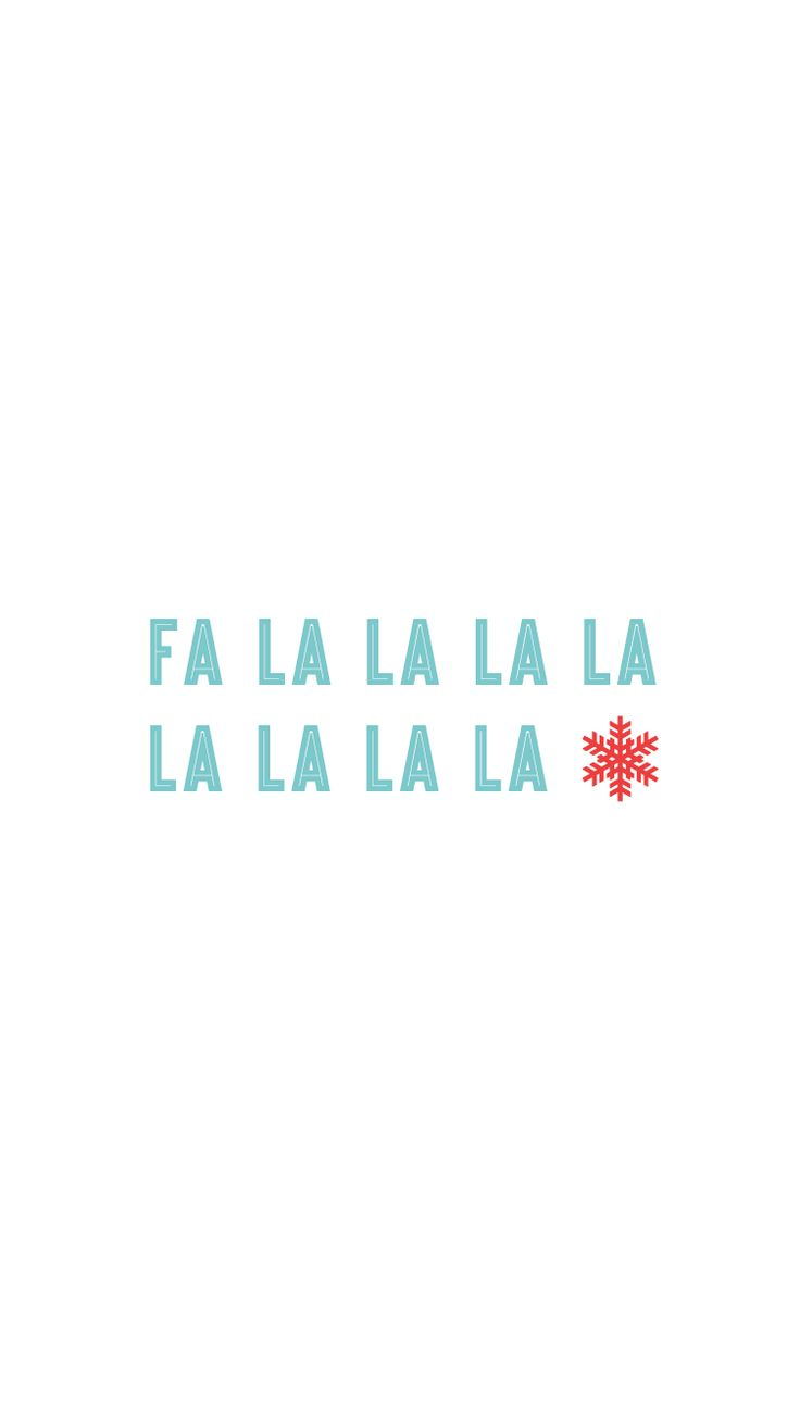 Fa la la la la la la la la Snowflake Vector | iPhone 6s lock screen wallpaper