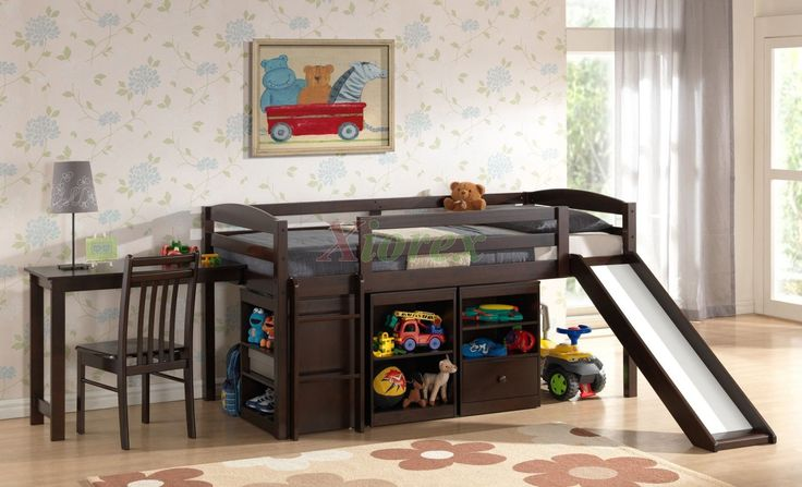 beds with slides for boys | Kids Cabin Bed Night and Day Mulberry Loft Bed Cabin Bed for Kids