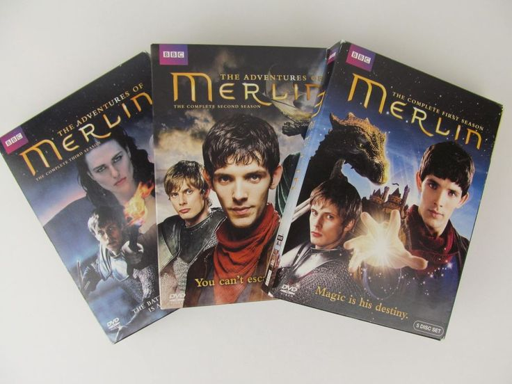 MERLIN Complete Seasons 1,2,3 DVDs Lot of 4 BBC Adventure Magic Sorcery