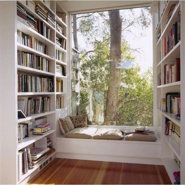 Book nook: Reading Area, Home Libraries, Reading Corner, Reading Nooks, House, Books Nooks, Window Seats, Booknook, Reading Spots