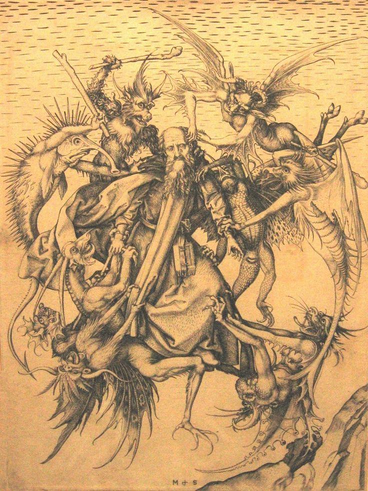 Holy Antonius - Мартин Шонгауэр. 1470 г.