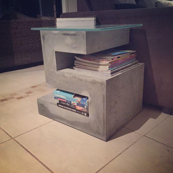 Gfrc foam filled concrete side table/open shelving