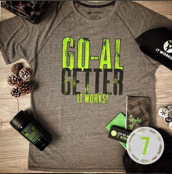 Hey you #ItWorksGOGetter! Rise & grind—you've got some goals to chase! Just like your Christmas tree, our men's swag is #lit. (IF you haven't already noticed!)  #OOTD