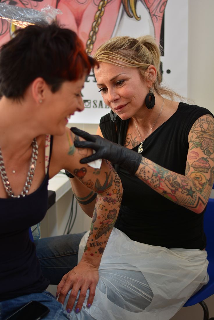 #leccetattoofest - 2nd Lecce Tattoo Fest 2015 - Sabry Ink Lady at work!