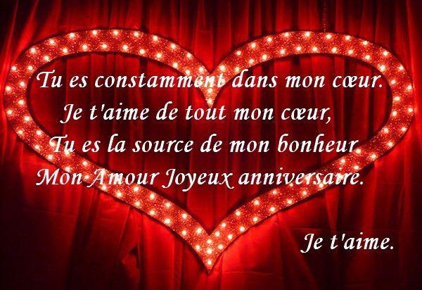 Texte D Anniversaire Amoureux Beautiful Carte Joyeux Anniversaire Mon Amour Ra Message Anniversaire Joyeux Anniversaire Ma Cherie Joyeux Anniversaire Mon Amour