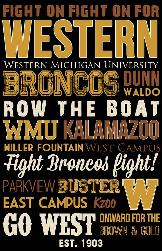 Western Michigan University Art Canvas Or Poster By SarasPrints