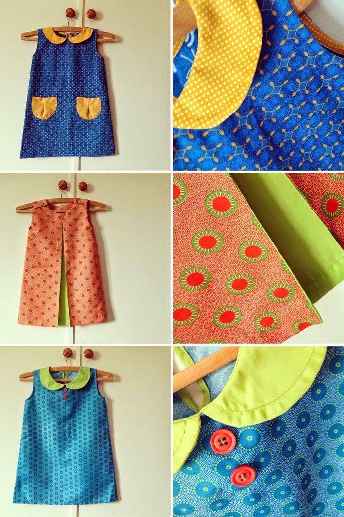 tjou-tjou } i designed shweshwe fabric dresses for my girls :)