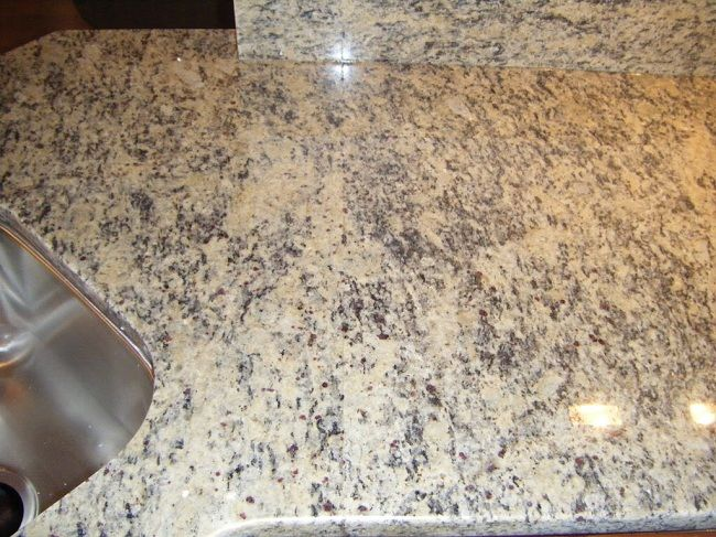 Light Tan Granite Countertops Santa Cecilia Light