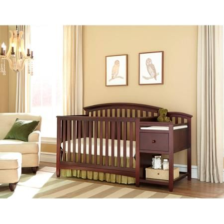 Imagio Baby Montville 4-in-1 Fixed-Side Crib and Changing Table Combo with Pad, Chocolate Mist - Walmart.com
