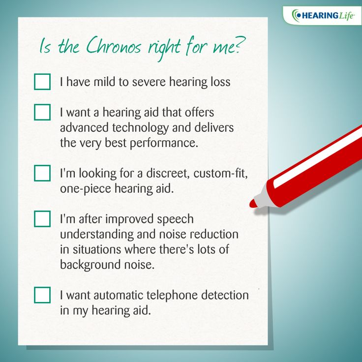 Use our checklist to see whether the Chronos is the right hearing aid for you! #hearingaid