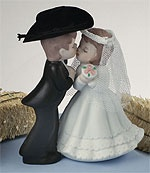 Cowboy Cowgirl Figurine Wedding Cake Tops