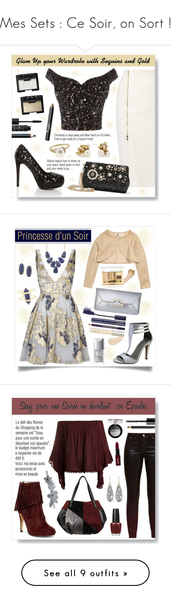 """Mes Sets : Ce Soir, on Sort !"" by drinouchou ❤ liked on Polyvore featuring MaxMara, Shirò, Dolce&Gabbana, Ruth Tomlinson, NARS Cosmetics, Notte by Marchesa, Michael Antonio, Tory Burch, Gucci and Christian Dior"