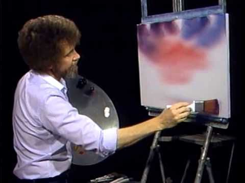 Bob Ross - Painting Red Sky - Bob Ross Fans - YouTube