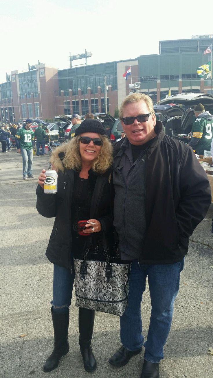 Rico Austin & wife Connie at Lambeau Field for Green Bay Packer game vs. Carolina 10-19-2014;  Go PACK!  Rico Austin - Author, Tequila  Connoisseur, PHD, Thunderbird Graduate, Writer