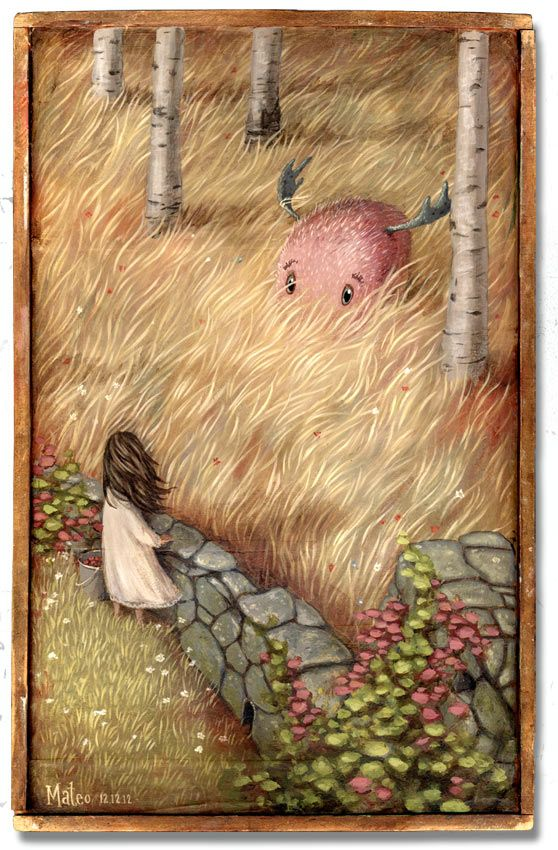Meadow Monster | 2012 | view originals: mateo-art.com