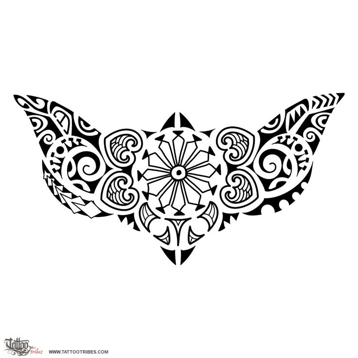 lower back      in this version the central flower  symbol