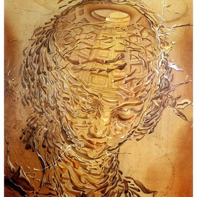 Raphaelesque Head Exploded (1951) - Salvador Dali  #surreal #optical #illusion #painting #creativity #art #artwork