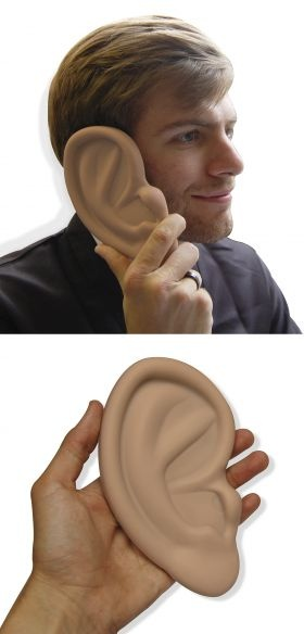 """""""What was that, I can't 'ear you?""""    Ear Shaped Case For Iphone 4 from LatestBuy - $24.95"""