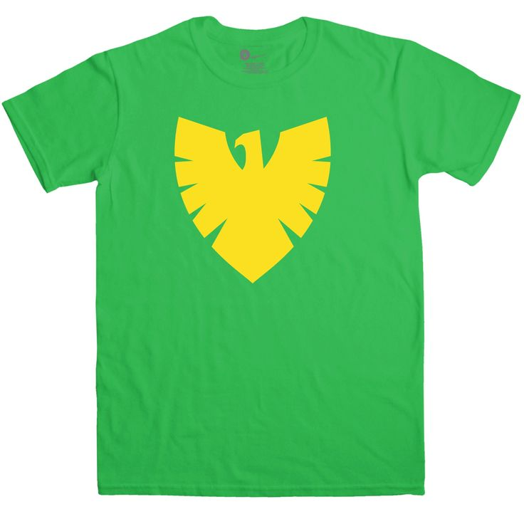 Why bother with an elaborate, expensive and uncomfortable fancy dress costume when you could just grab this cool superhero costume tee instead? Featuring a bold yellow print of a phoenix symbol, this tee may or may not possess you with the power of an angry god bent on the Earth's destruction. This tee is intended as a cool fancy dress option and is not a licensed garment.