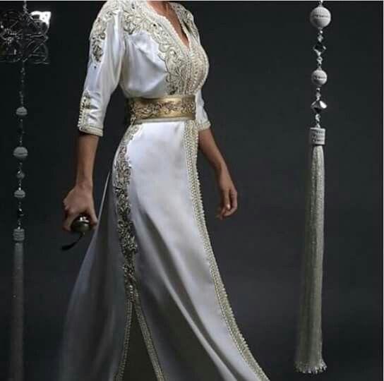 White Moroccan caftan