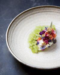 Lummi Island chef Blaine Wetzel's Cherry Blossom Ice Cream w/Verbena Granita