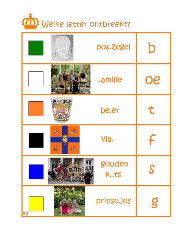 * Welke letter ontbreekt? 1-2