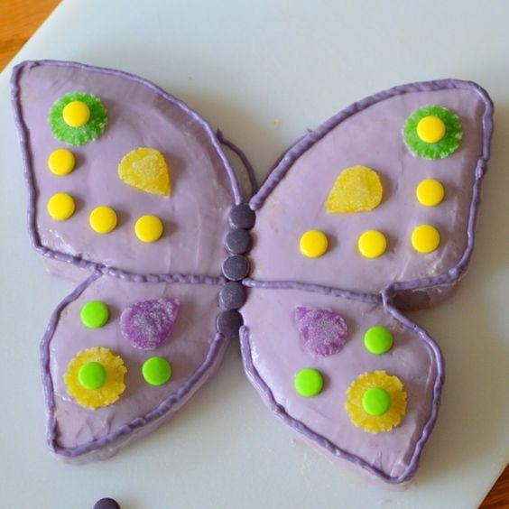 Schmetterling Kuchen für Kindergeburtstag selber machen