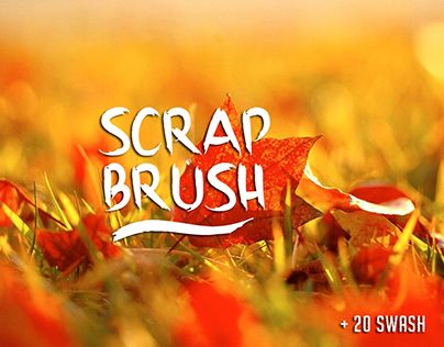 """Check out new work on my @Behance portfolio: """"Scrap Brush Typeface"""" http://be.net/gallery/51043211/Scrap-Brush-Typeface"""