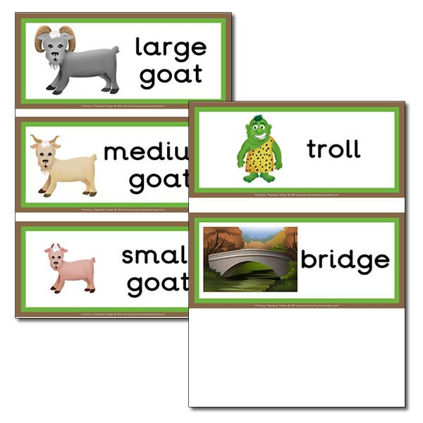 'The Three Billy Goats Gruff' flashcards