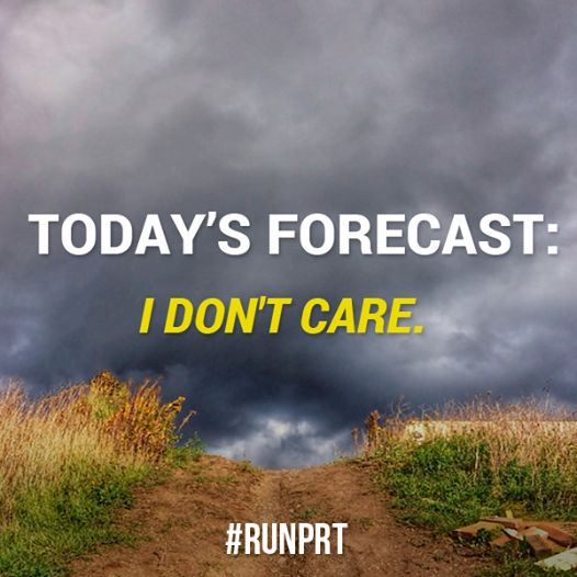 Sometimes, it seems like you'd run during a tornado if you had to - amiright?! #running #runspo