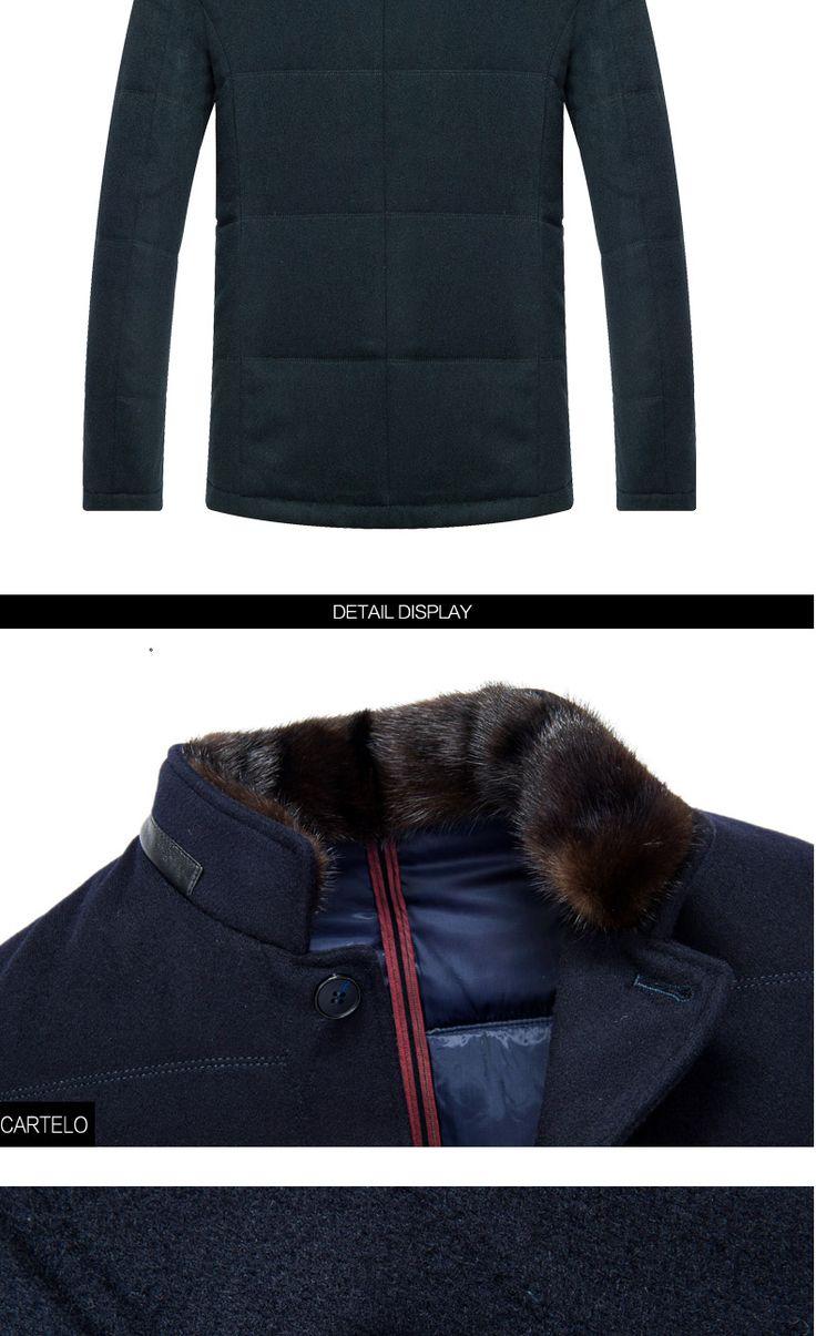 Cartelo/marca 2016 invierno ropa de la nueva agua visón cuello de piel masculina abrigo en la parte larga de la capa caliente para hombre en Parkas de Ropa y Accesorios en AliExpress.com | Alibaba Group