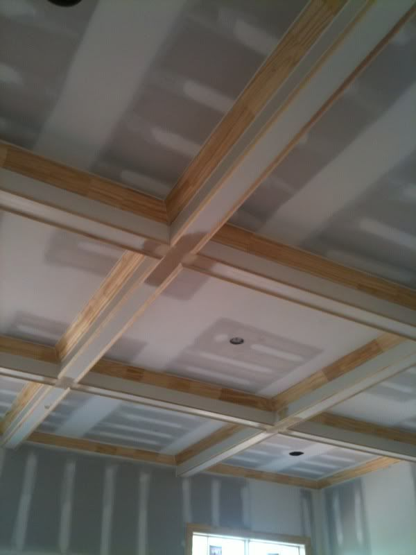 16 best images about decor coffered ceilings on pinterest for Foam coffered ceiling