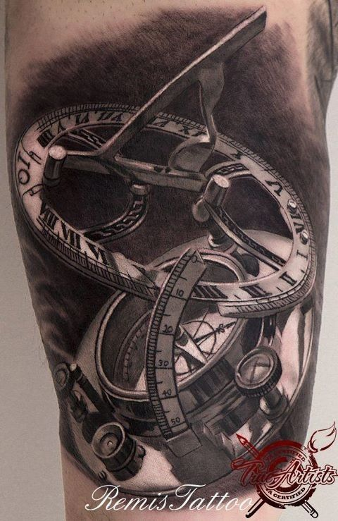 Tatuagem Instrumentos de navegação