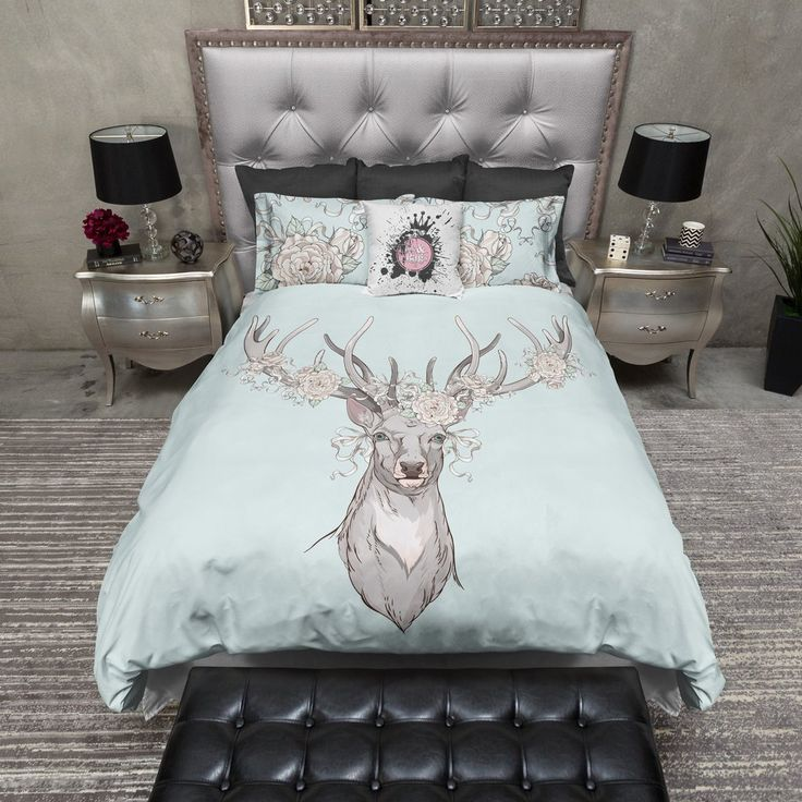Country Chic Deer and Rose Duvet Bedding Sets