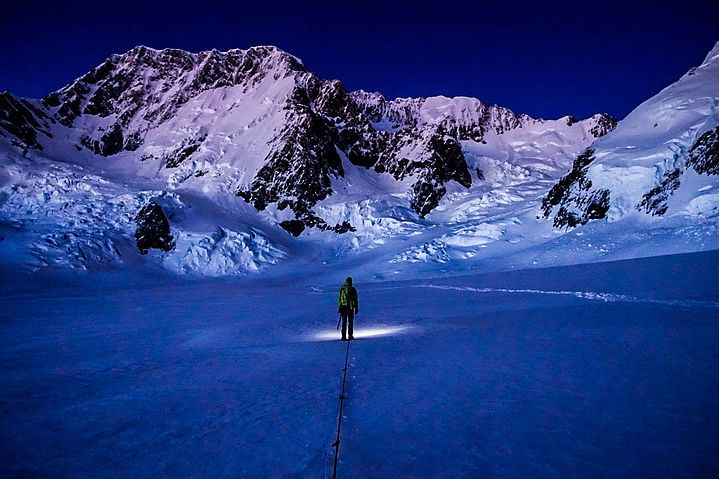 """Sunrise on Mt. Cook  Mt. Cook Range, NZ  """"I Want To See Mountains Again,  Mountains Gandalf!"""""""