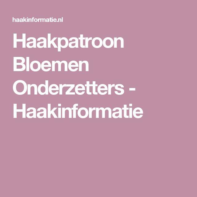 Haakpatroon Bloemen Onderzetters - Haakinformatie