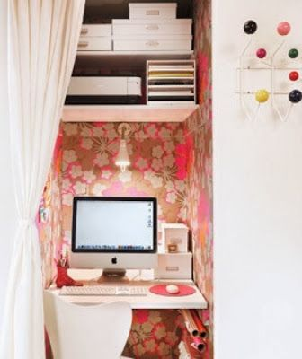 Diy Home decor ideas on a budget. Office/Craft Space.