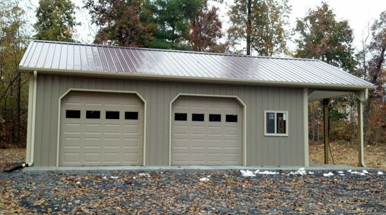 Pole Barn Garage with Porch | Superior Buildings LLC