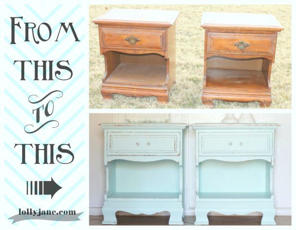 Aqua nightstands. #DIY #furniture