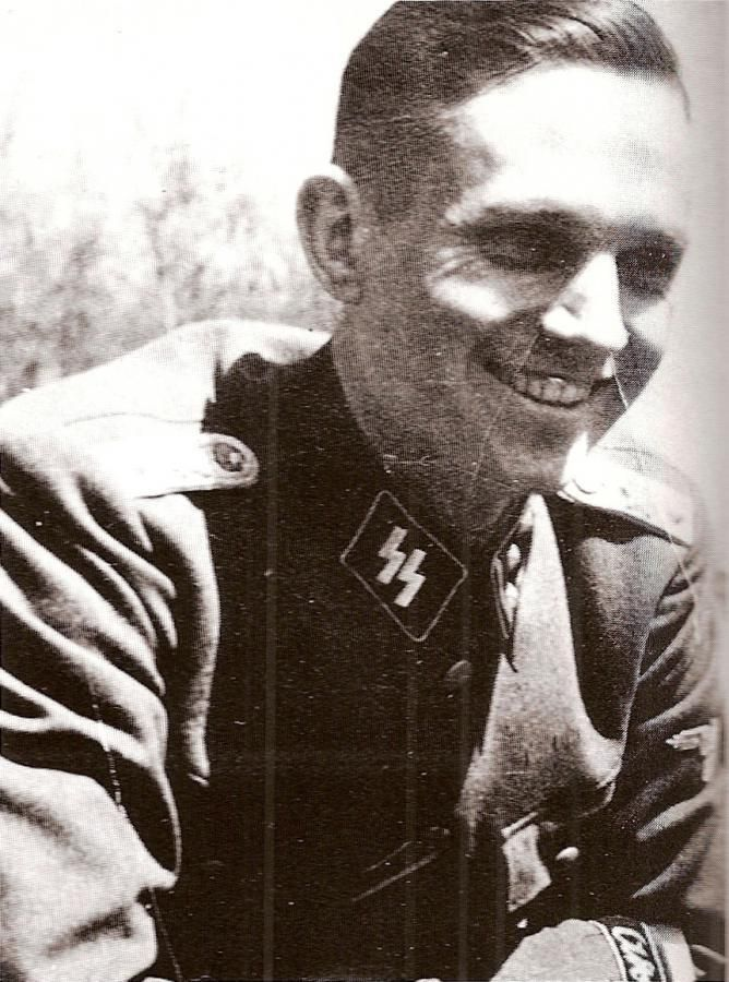 SS-Hauptsturmführer Hans Pfeiffer (5 December 1915 - 11 June 1944), one of Hitler's adjutant, Kompaniechef of the 4./SS-Pz.Rgt.12, he was killed in action in Rots, Normandy, on 11 June 1944. Pfeiffer is buried at La Cambe German War Cemetery.