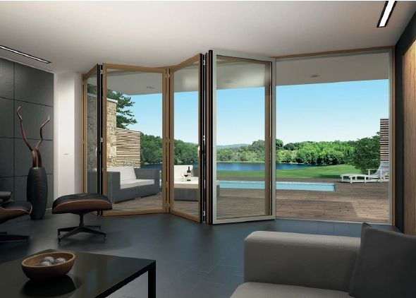composite folding door by Sunflex offering the warmth of timber on the inside and the durability & 35 best Inspiration - Sliding/Folding Doors images on Pinterest ... pezcame.com