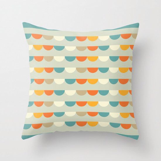 Funfair Retro Pillow Cover, home decor, Retro Cushion Cover, Retro Geometric Pattern Decorative Pillow Cover by ThingsThatSing on Etsy https://www.etsy.com/listing/196603354/funfair-retro-pillow-cover-home-decor