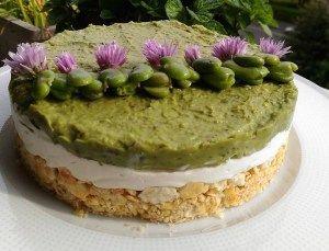 Cheesecake salata di fave e robiola