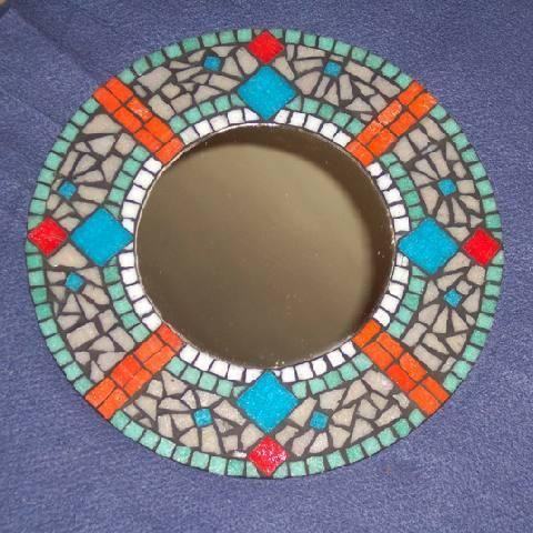 Espejo redondo - Mosaico