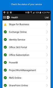 Office 365 Admin– captură de ecran miniatură