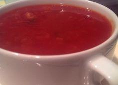 Tomatensoep - Stevige tomatensoep met flink wat groente.