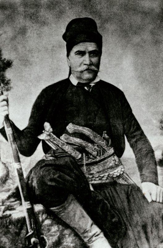 1864 Ο καπετάνιος Μιχαήλ Κόρακας (από φωτογραφία του Κ. Ανδρουλάκη). - LEAR, Edward - ME TO BΛΕΜΜΑ ΤΩΝ ΠΕΡΙΗΓΗΤΩΝ - Τόποι - Μνημεία - Άνθρωποι - Νοτιοανατολική Ευρώπη - Ανατολική Μεσόγειος - Ελλάδα - Μικρά Ασία - Νότιος Ιταλία, 15ος - 20ός αιώνας