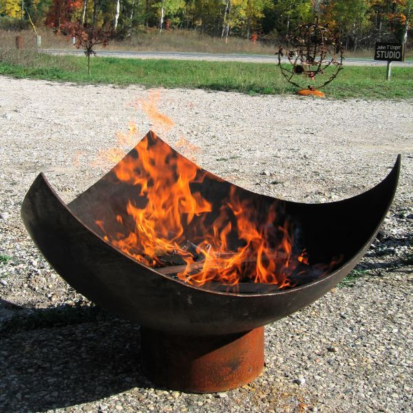 A Fire Pit For The Crescent Couch Iron Fire Pit